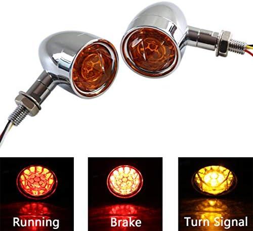 Universal Motorcycle Clear Lens 15 LED Turn Signal Blinker Indicators Light 12V