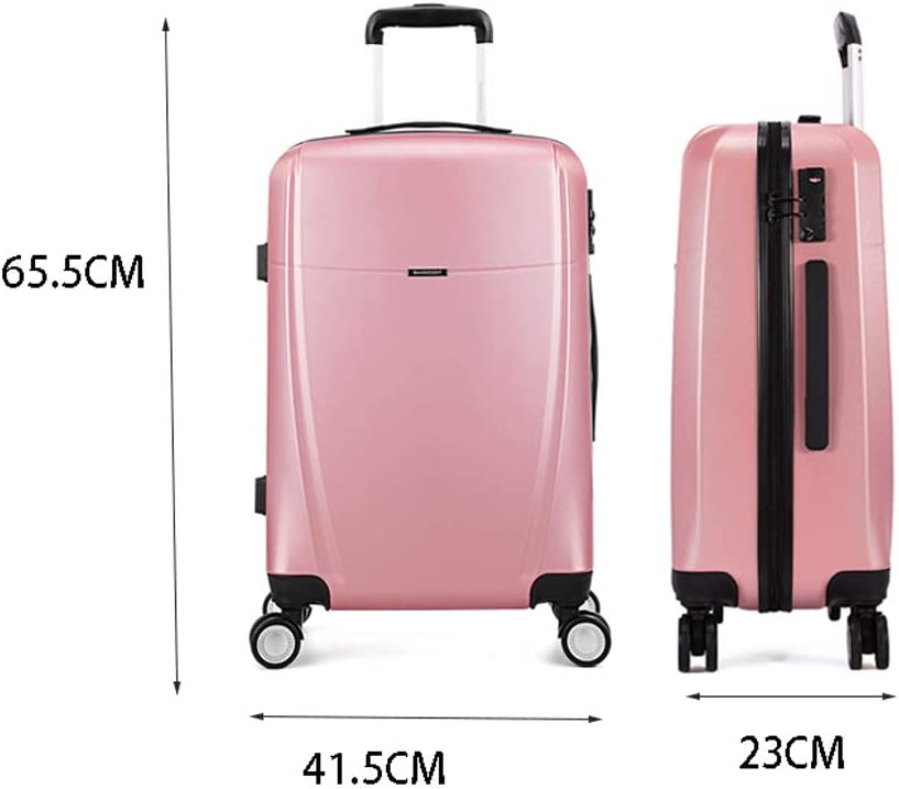 Suitcase for Men and Women Boarding Password Suitcase Suitcase Trolley Case 24 Inch Color : White