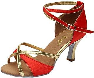 Sunnywill Chaussures de Danse Latine, Chaussures de Danse à Talons Hauts