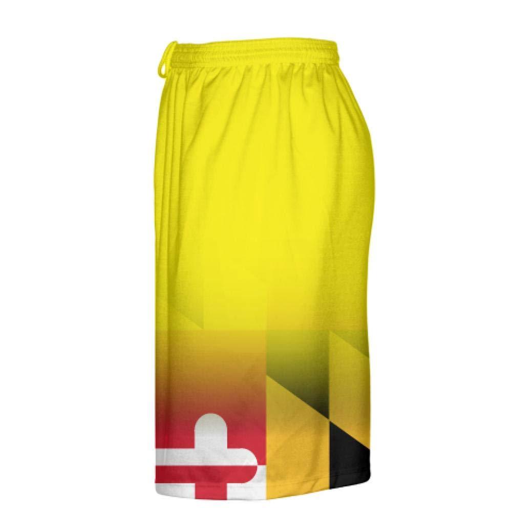 LightningWear Yellow Fade Maryland Flag Shorts