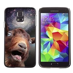 iKiki-Tech Estuche rígido para Samsung Galaxy S5 - Funny Space Goat Meme