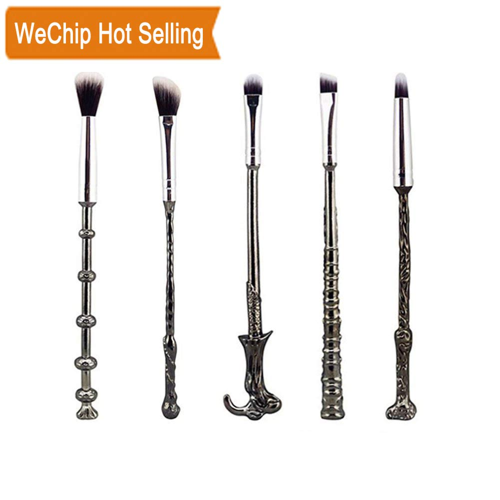 Harry Potter Makeup Brush Set, Wechip Potter Fan Wizard Wand Brushes Eyeshadow Brush for Foundation Blending Blush Concealer Eyebrow Face Powder