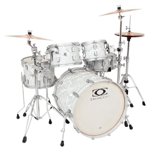 Drum Craft Series 7 DC807152 Fusion Birch 20-Inch Drum Set Shell Pack, Liquid Chrome by Drum Craft