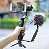 Universal Microphone Stand L Bracket Camera Grip with 2 Hot Shoe Mounts w tripod