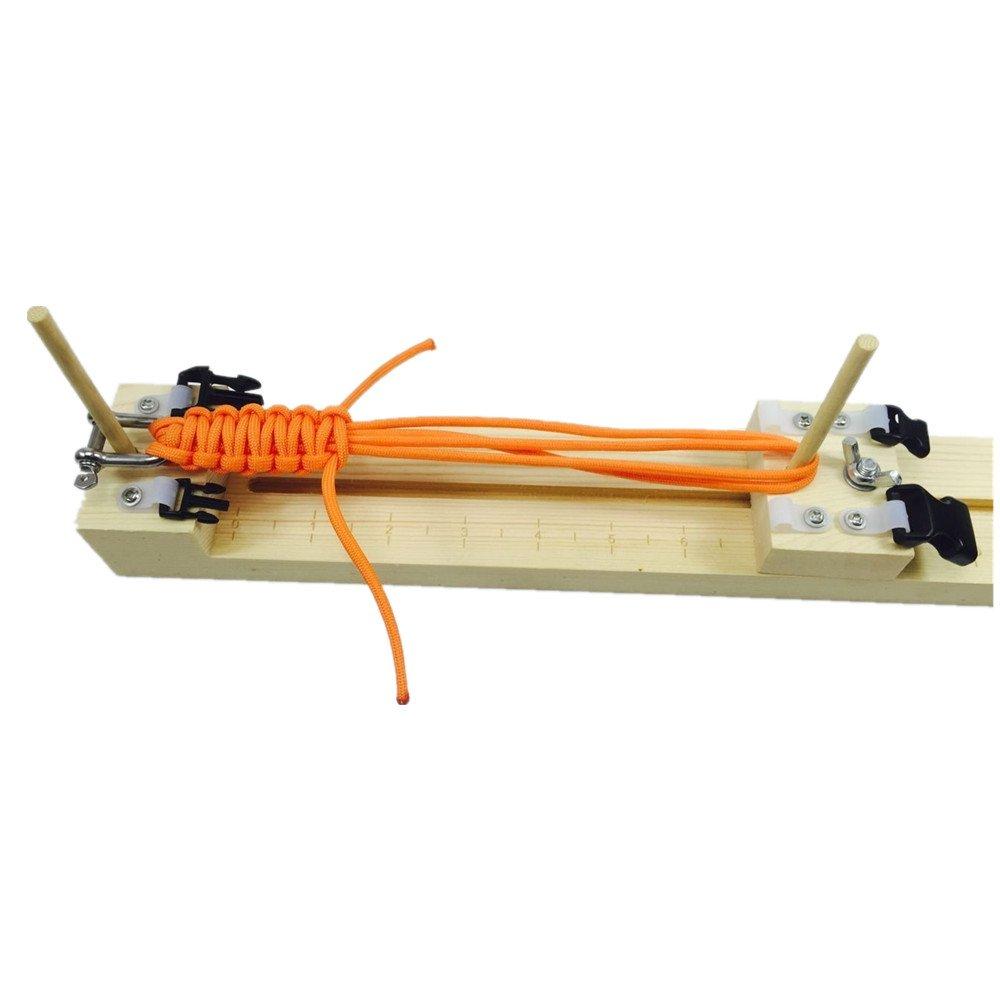 MAX HERO Adjustable length paracord jig Bracelet Maker wooden frame-Paracord Braiding Weaving DIY Craft Tool Kit 4336835642