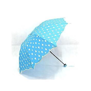 Fashion Paraguas cambia de color agua activado paraguas plegable, diseño de princesa azul