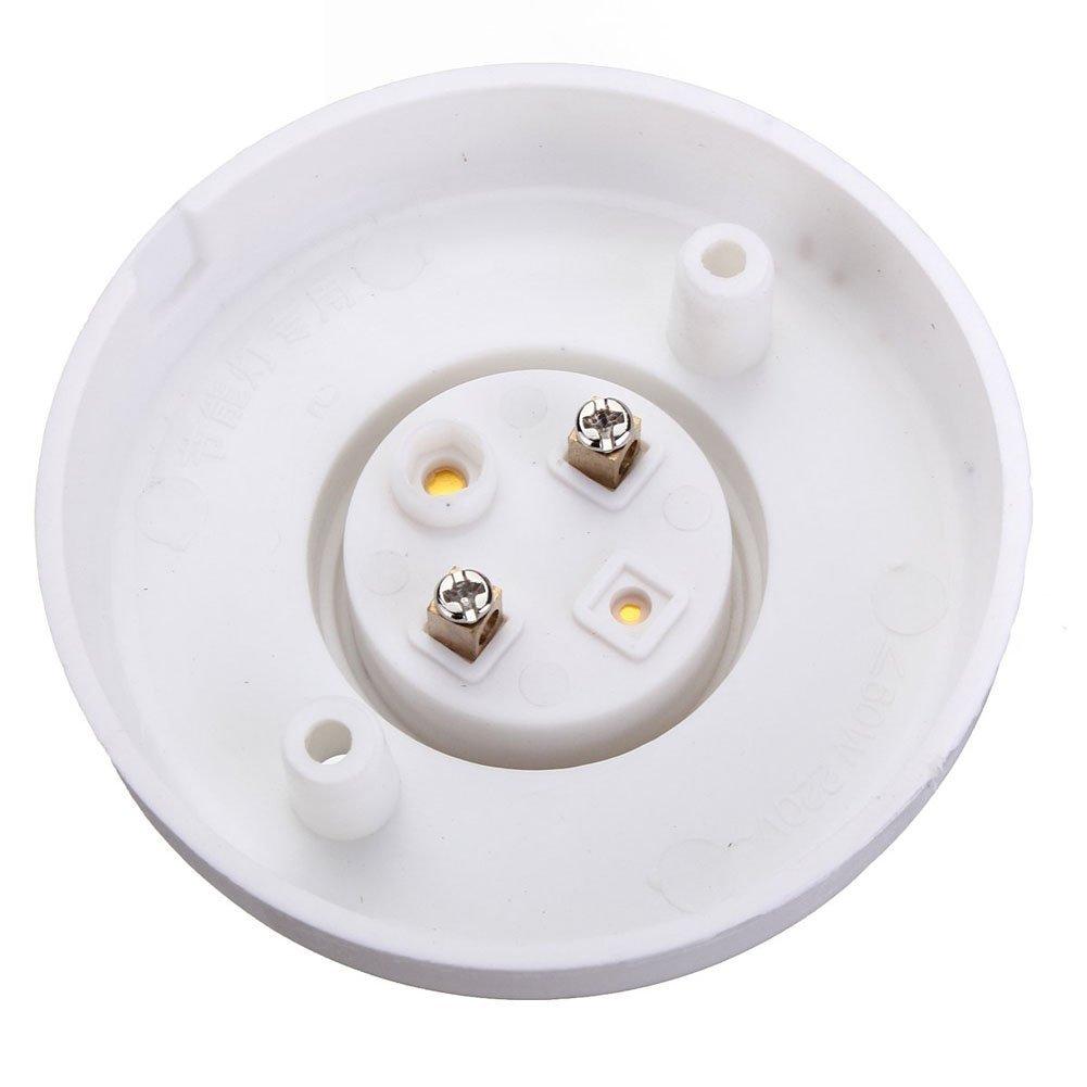 Hanpearl Round E27 White LED Lamp Screw Base Halogen Bulb Holder Converter Light Bulb Base Lamp Socket Adapter (10 Pack)