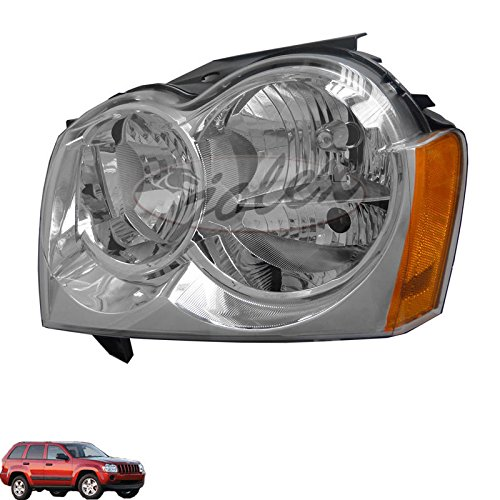 Headlights Depot Replacement for Jeep Grand Cherokee Headlight OE Style Replacement Headlamp Passenger Side New