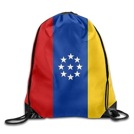 Daisylove Bandera de Venezuela Personalizada Gimnasio con cordón Bolsas de Viaje Mochila Tote Mochila Escolar