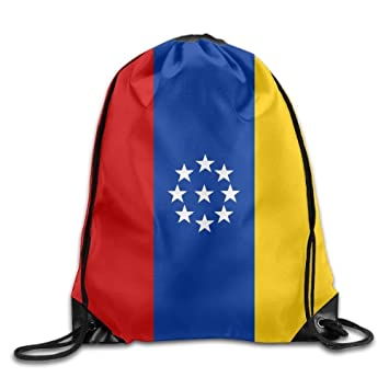 Shanzhi Bandera de Venezuela Personalizada Gimnasio con cordón Bolsas de Viaje Mochila Tote Mochila Escolar