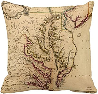 Mapa de España manta 18 * 18 funda de almohada: Amazon.es: Hogar
