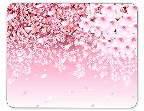 Qien BaiSei Cherry Blossom Background Mouse pad-Non-Slip Rubber Mousepad-Applies to Games,Home, School,Office Mouse ()