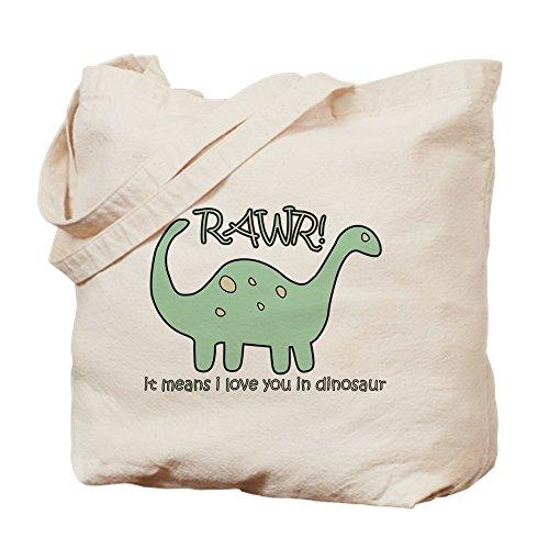 CafePress–Dinosaur Rawr de–gamuza de bolsa de lona bolsa, bolsa de la compra