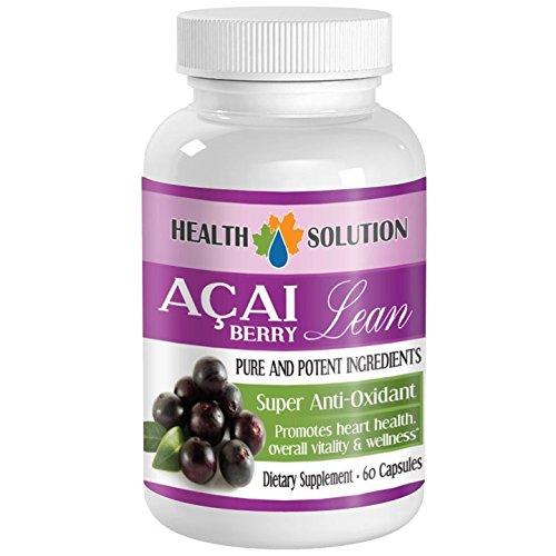 (antioxidant acai supplement - ACAI BERRY LEAN - PURE AND POTENT INGREDIENTS - acai energy boost - 1 Bottle (60 Capsules))