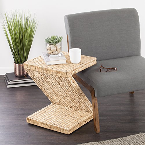 Holly & Martin Zico Water Hyacinth Accent Table - 16.5