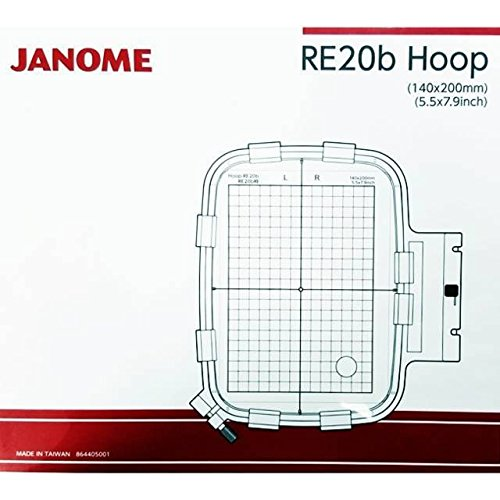 "Janome RE20B 5.5"" x 7.9"" Embroidery Hoop fits MC500E and MC400E by Janome"