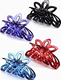 Prettyou 3.5'' Plastic Large Clip Hair Claws for Women, Pack of Four