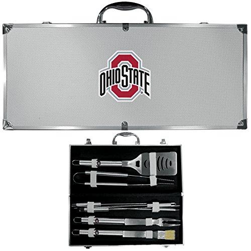 Siskiyou NCAA Ohio State Buckeyes 8 Piece BBQ Set (Ohio State Grill)
