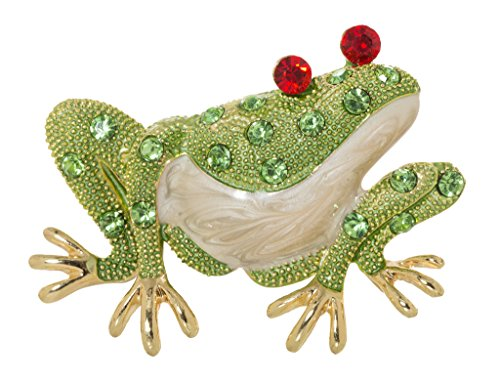 - Adorable Green Frog Brooch Pin 1.4