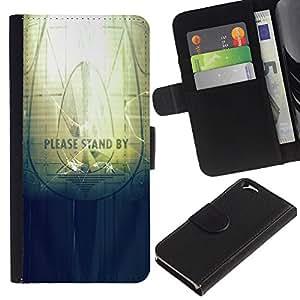 EJOY---Tirón de la caja Cartera de cuero con ranuras para tarjetas / Apple Iphone 6 / --Soporte por favor