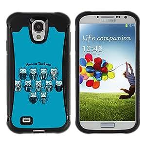 ZAKO Cases / Samsung Galaxy S4 I9500 / Adventure Lords / Robusto Prueba de choques Caso Billetera cubierta Shell Armor Funda Case Cover Slim Armor