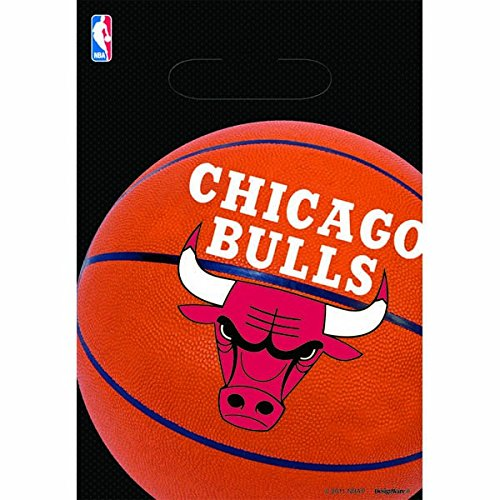 fan products of Amscan Sports & Tailgating Nba Chicago Bulls Loot Bags Childrens Party Favor Sets (48 Piece)
