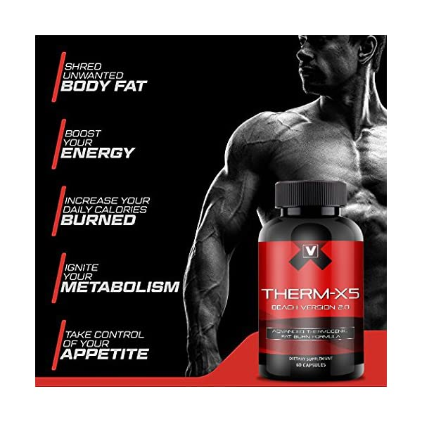 Therm X5 No 1 Weight Loss Supplement Thermogenic Fat Burner Appetite Suppressant Energy Booster Metabolism Support With Acetyl L Carnitine