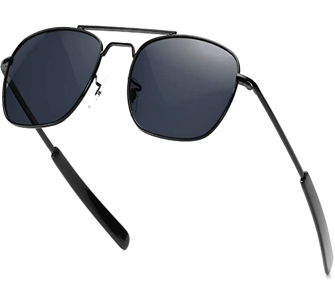 Amazon.com: Gafas de sol para hombre Aviator 2.165 in ...