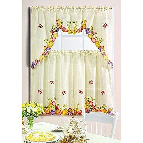 Fruit Kitchen Curtains Magnificent Decorating Design