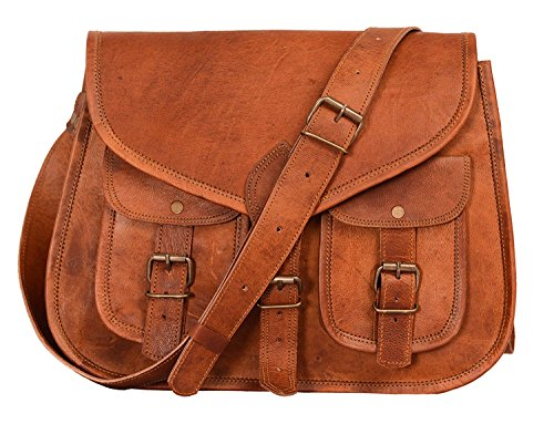 Bag Travel Ipad Artishus Crossbody brown Purse Women Leather Designer genuine Handbag Shoulder Satchel tqwrZE1w