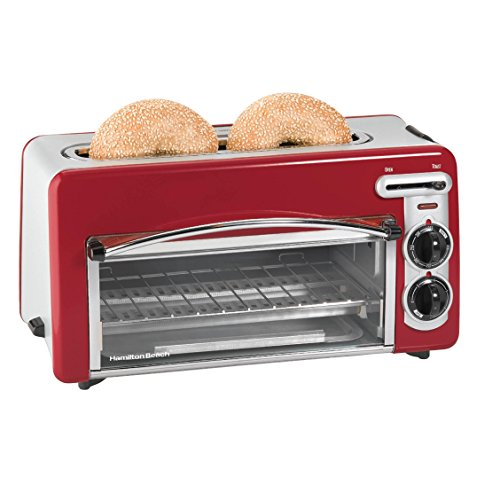 Hamilton Beach Toastation 2-in-1 2-Slice Toaster & Oven (Red) (Toaster Oven 2 In One compare prices)