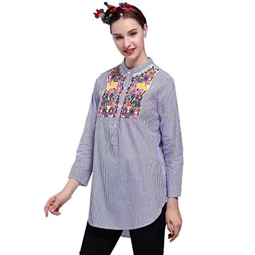 ALICE-X&S - Camisas - con botones - para mujer Stripe