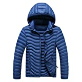 Susanny Men's Hooded Packable Light Weight Outdoor Sports Short Down Jacket XXL Dark Blue