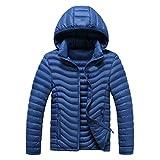 Susanny Men's Hooded Packable Light Weight Outdoor Sports Short Down Jacket XXL Dark blue