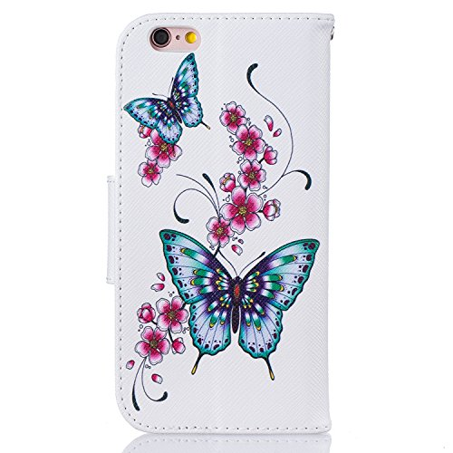 A9H Apple iPhone 6 4.7 funda Tapa,Funda para Apple iPhone 6 Cover Carcasa Flip Cover Tapa de Cuero de La PU Leather Case de la Cartera con Ranuras para Tarjetas Soporte para Apple iPhone 6 Smartphone  06HUA
