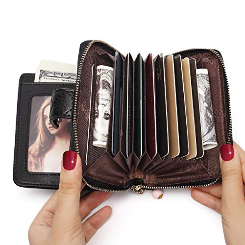 FOXER Women Leather Wallet Small Bifold Wallet Quilted Wallet Card Holder Clearance Sale