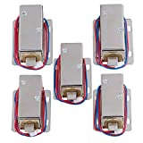 Yibuy 5X TFS-A21 Cabinet Door Electric Lock Assembly Solenoid 12V Lock Tongue Down