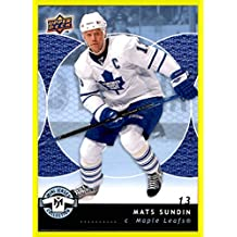 2007-08 UD Upper Deck Mini Jersey Collection #90 Mats Sundin TORONTO MAPLE LEAFS