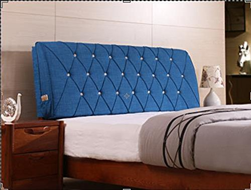 AIDELAI Backrest- Bed Backrest Cushions Upholstered Leather Upholstered Cushions Shall Cover Removable and Washable Cloth Bed (Color : A, Size : M)