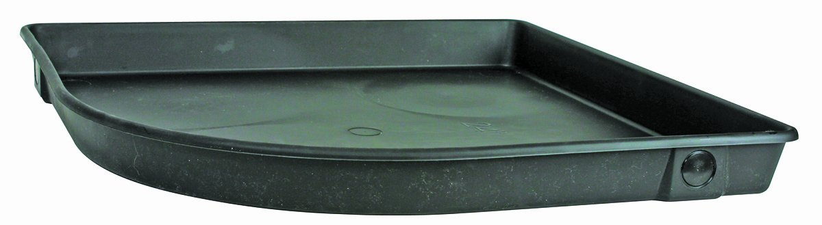 Camco 11480 24''ID x 3''Deep Corner Plastic Drain Pan with PVC Fitting