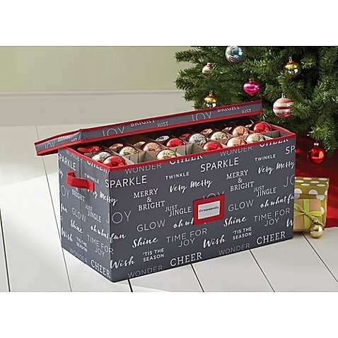 Real Simple Holiday 96-Count Ornament Storage Chest