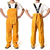 LAIABOR Welding Apron bib Jumpsuit Overalls Protective Foot Safety Apparel for Electrical Weld, Cutting, Casting, Lathe, Steel, Smelting Retardant wear Resistant,Yellow,XXL