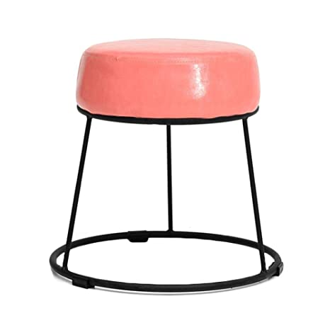 Amazing Amazon Com Rmjai Round Pu Upholstered Ottomans Foot Stool Frankydiablos Diy Chair Ideas Frankydiabloscom