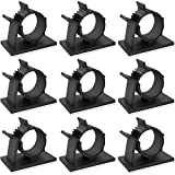 3m cable ties - Darller 60 Pack Adjustable Cable Tie Clips 3M Adhesive Wire Clips Nylon Wire Clamps for Car, Home and Office, Black