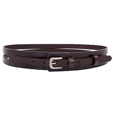 Cinturón retro casual para dama, piel de ante simple, negro, rojo ...