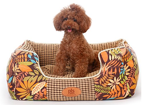 Dog Designer Pillow (PLS Paradise Bolster Dog Bed with Pillow (Medium, 24Wx30L))