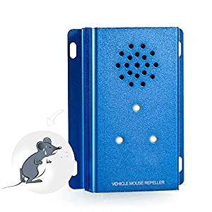 Under Hood Animal Repeller Ultrasonic in Car, Ultrasound Mouse Repellent Pest Control Mice Reject Device Repel Mice, Spiders, Cockroaches for Car Truck Vehicle by Amhousejoy (Blue)