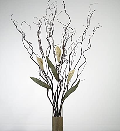 Amazon Greenfloralcrafts Curly Willow And White Calla Lilies