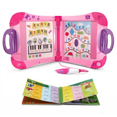 LeapFrog LeapStart Interactive Learning System Pink Preschool and Pre-Kindergarten for Kids Ages 2-4, + Level 1 Set of Educational Learning Basic Skills for Life Fun Activity Bundle by LeapFrog (Image #2)