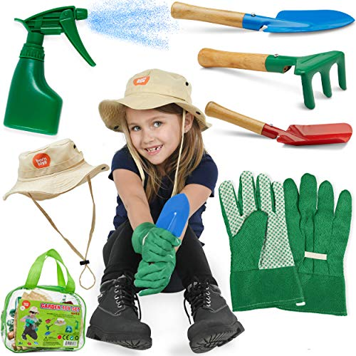 Born Toys Kids Gardening Set (6 pc),Garden Rake